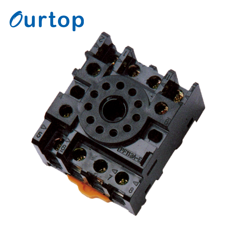 OURTOP Automatic Voltage Regulator Qsn6.5-0.1 Auto Micro Relay Socket With Wire