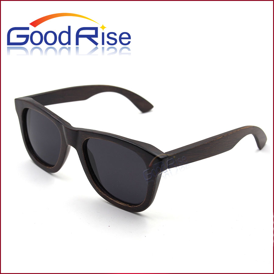 China Supplier OEM Branded Bamboo Wood Black Sunnies