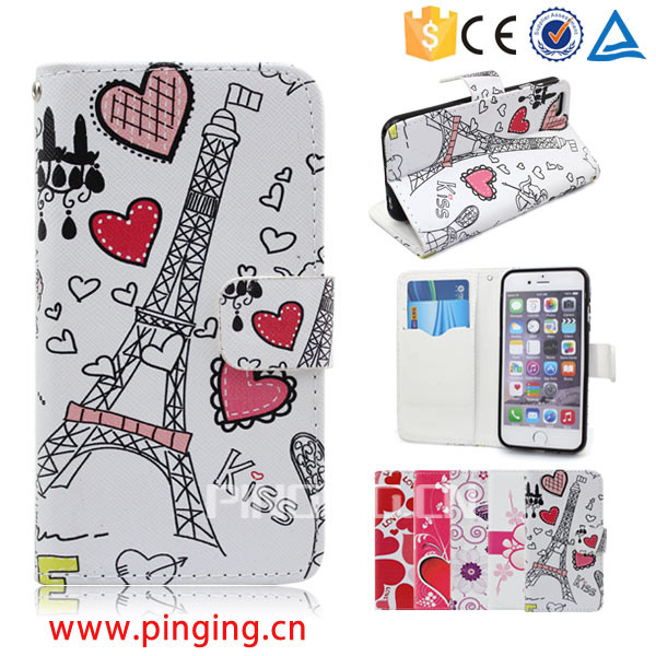 Colorful printing pu leather case flip cover for EE Kestrel for other mobile phone