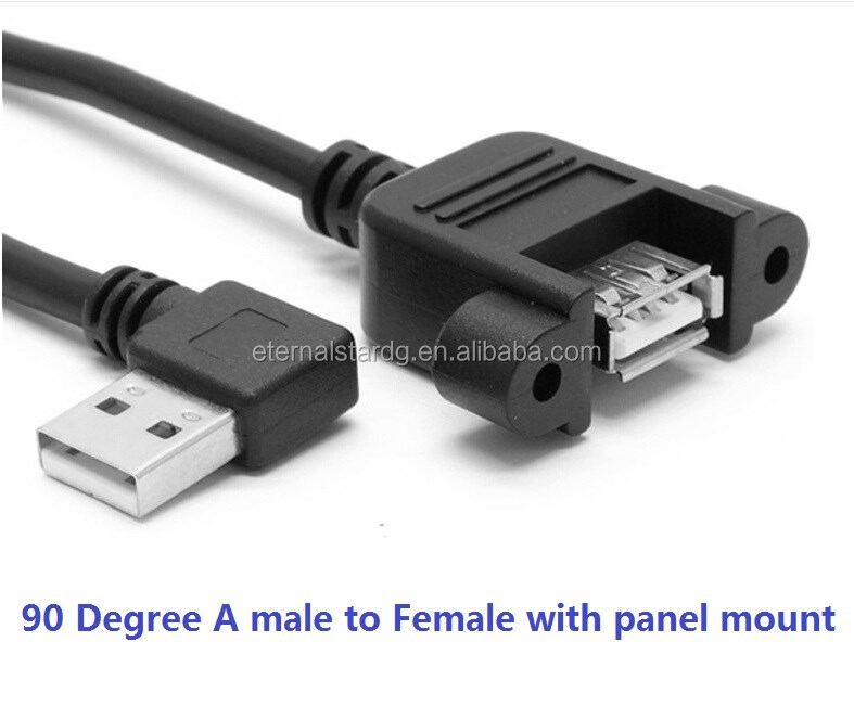 Angle USB 2.0 A Male to A Female with panel mount.jpg