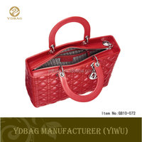 PU leather shopping bag in red