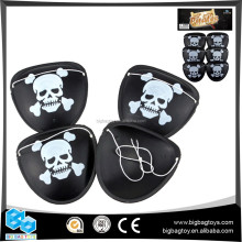 cheaper black novelty 2017 PIRATE EYEPATCH 6PCS for boys