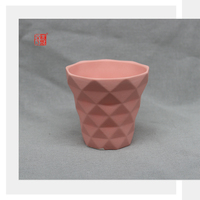 High Quality New Design Orange Ceramic Candle Jars Wholesale
