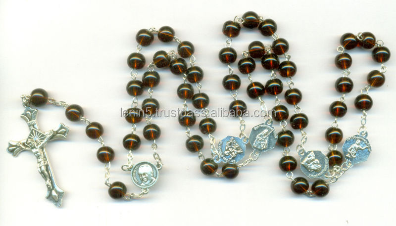 Rosary made of 8mm beads X mas rosary