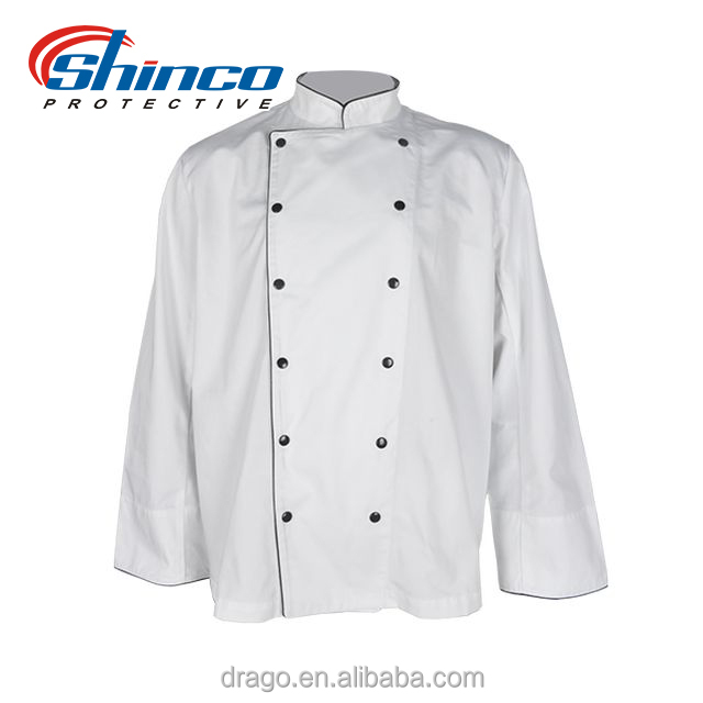 Long Sleeve 100%Cotton Chef Garment