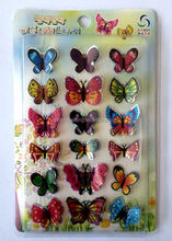Custom design top grade colorful butterfly 3d sticker for wall