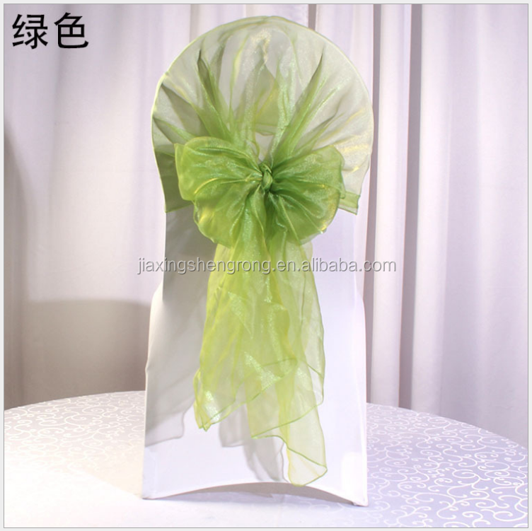 Apple Green Color Organza Chair Hood For Wedding