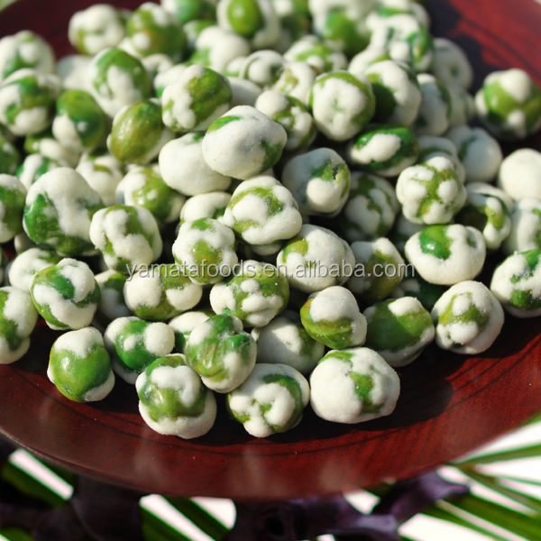 Dry Fried White Coated Wasabi Green Peas