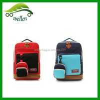 Wholesale lovers hit the color, fashion, Japanese style, large capacity, canvas shoulder school bag
