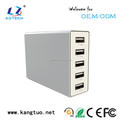 60 Watt 5 ports powered usb charging station for mobile phone/tablets