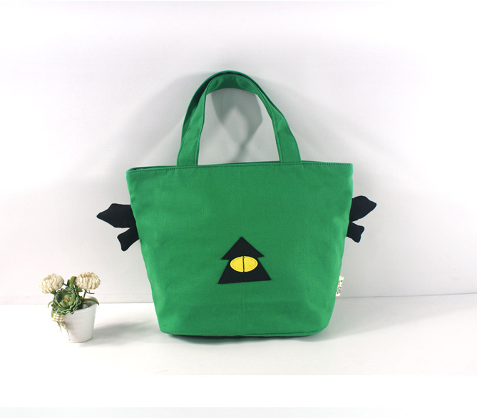 UK Top Sale Simple Design Green Attractive Small Tote Wholesale Lunch Bag Handmade Manufacture Women Clear Shoulder Bag