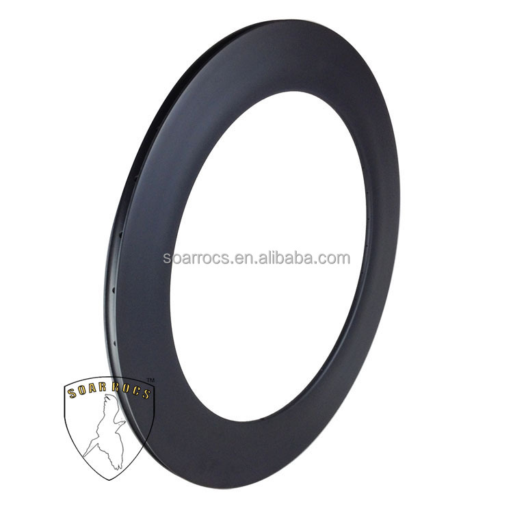 U shape 88mm tubular rim high TG resin road bike wheel 25mm width UD matte breakless surface carbon track wheels