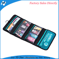 Hanging Travel Toiletry bags with clear pouch