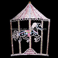 Crystal party pageant crown horse crown
