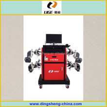 CE approval lige CCD wheel alignment ,wheel alignment software , turntable, 8 test sensors