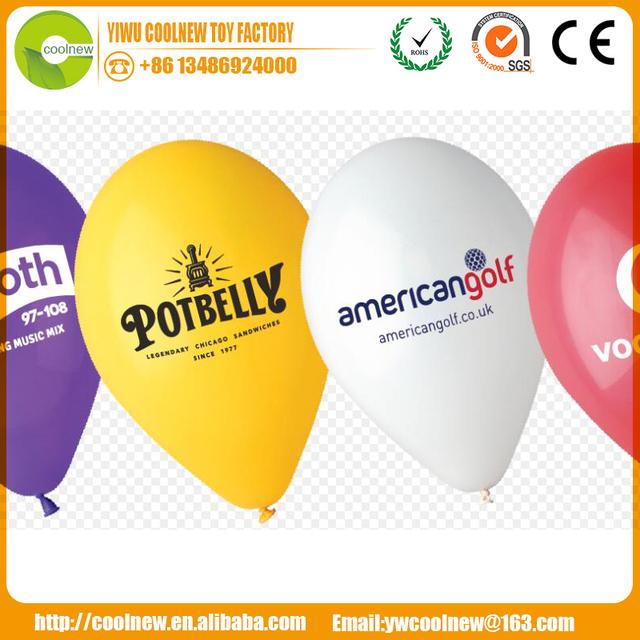Wholesale printable advertising latex balloons with screen printing logo ballon