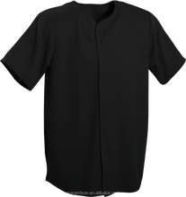 All black plain baseball jersey wholesale custom baseball jersey full button blank baseball jersey