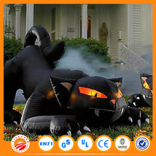 LED animal yard decoration black cat for commercial use