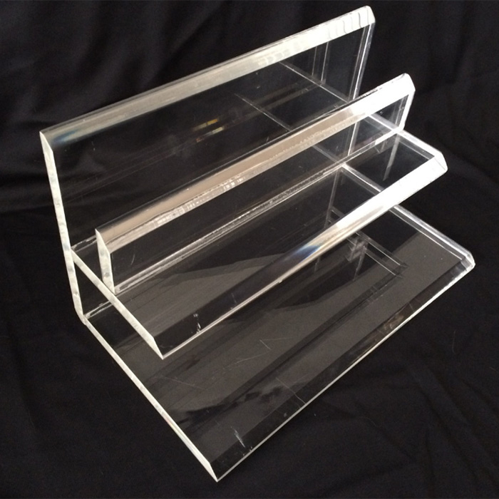 Clear Acrylic Desktop Paper Letter Inbox Tray Organizer, Mail Holder
