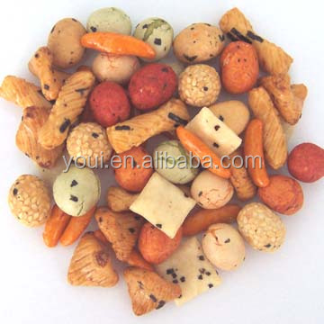 High quality Fried japanese rice crackers BRC cetificate