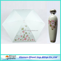 China wholesale logo printed wine bottle umbrella for promotional gifts