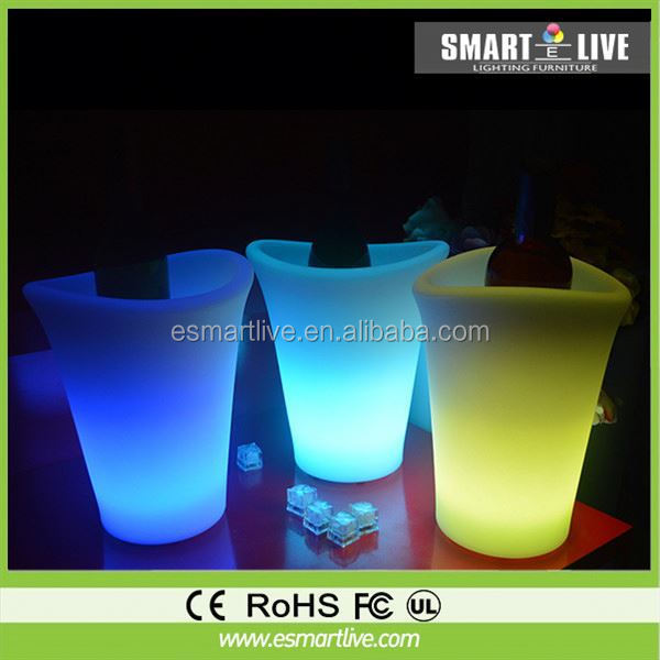 Carnival favor plastic glow LED ice buckets