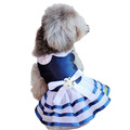 Super beautiful sweet blue Dog navy wedding dress Puppy princess dress Teddy clothes Puppy dress Pet clothes Pet Supplies