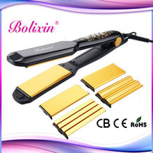4 in 1 changeable plates muti-function hair straightener