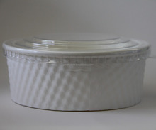 40oz disposable paper salad bowl to go box container