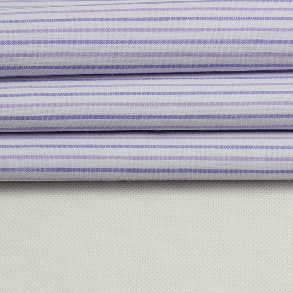 wholesale 100% cotton printing purple pink white stripe fabric of clothing