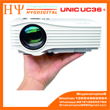 Factory Supply Professional UNIC UC36+ Low Price Full HD 1080P Mini LED Pico Pocke Projector UC36+ Used Cinema