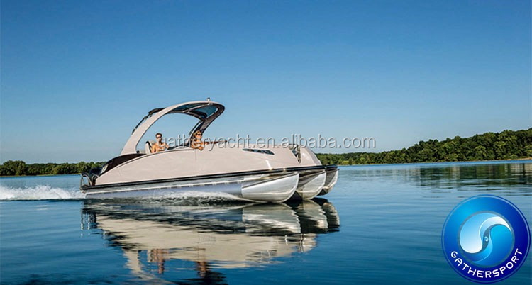 Gather Yacht Made In China new design 7.5m pontoon boat,aluminum pontoon boat