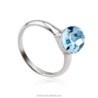 Blue crystal rings jewelry, voggue jewelry wedding rings