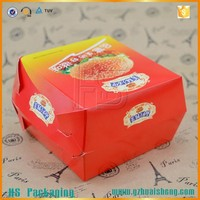 Foldable Fast Food Grade Paper Burger