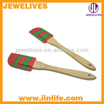 Hot sale novelty non-toxic silicone christmas spatula