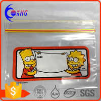 Transparent Storage LDPE printed plastic bag with zipper top