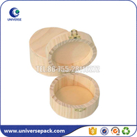 Small round unfinished wood gift boxes wholesale