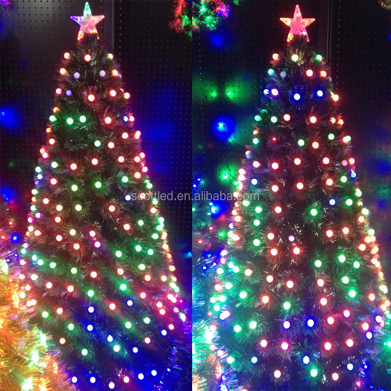 G40 WS2811 SMD5050 F8 Color Changing Milky White Waterproof Christmas LED String Lights