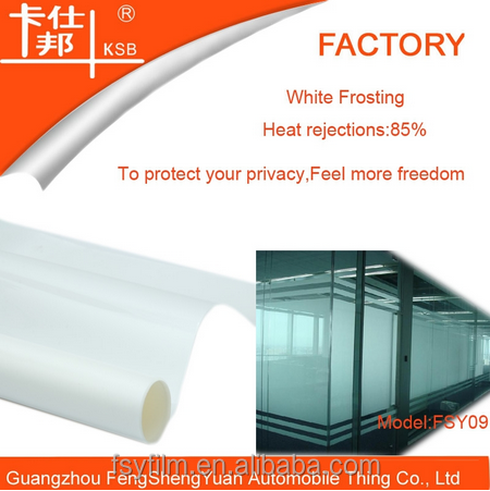 Cheapest price decorative self-adhesive white frosted window building film to protect privacy