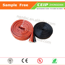 Fiberglass silicone sleeve for protecting electrical cables