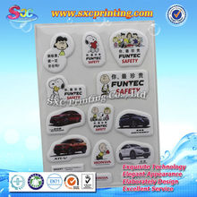New style cheap custom cartoon design 3d puffy sticker for kids products promotional gifts