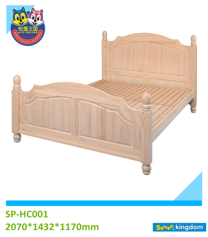 Solid wood bedroom furniture set single bed kids furniture for Single bed furniture set