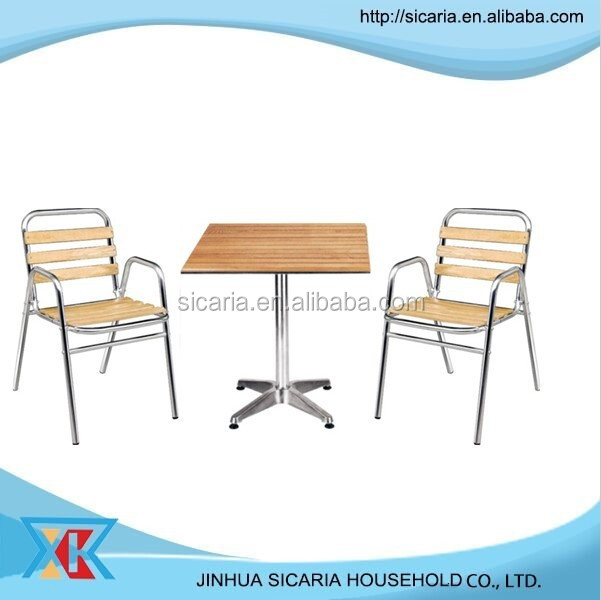 popular family garden wooden table and chair set