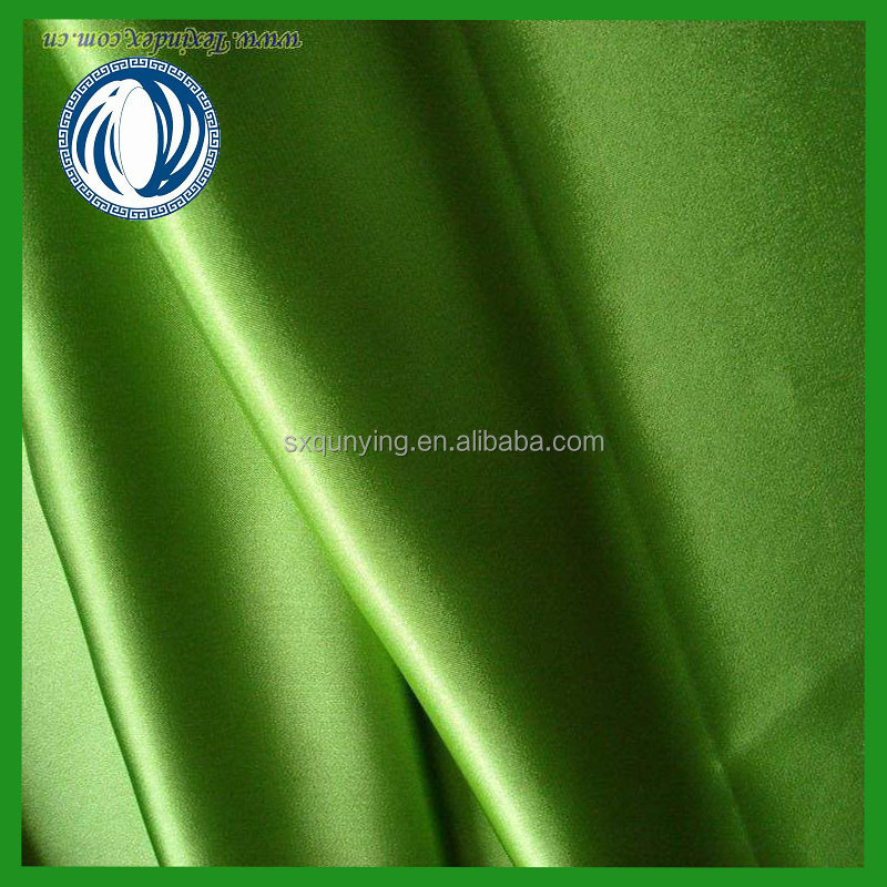 100% polyester satin 50d spandex yarn satin fabric manufacturer