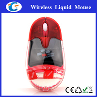 electronic gift items 2.4g wirless rechargeable mouse with liquid