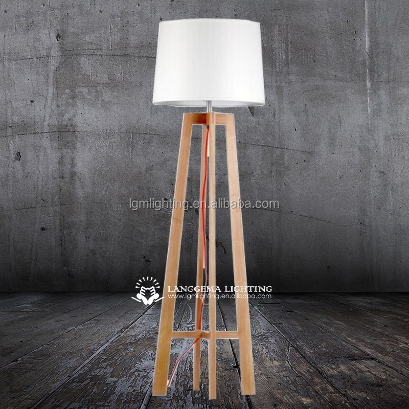 2015 Solidwood natural wooden floor standing lightings/lamps for home decoration