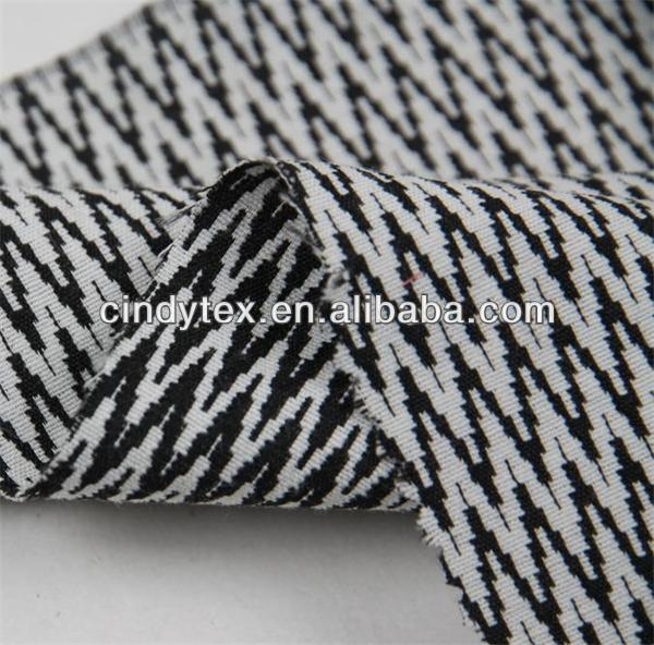 cotton/poly spandex yarn dyed jacquard fabric