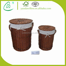 cheap large wicker basket with lid