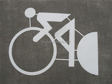 pvc preformed reflective traffic adhesive symbols(reflective surface and self-adhesive road sign)