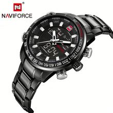 Naviforce gold men stainless <strong>smart</strong> <strong>watch</strong> sport quartz <strong>watch</strong> brand famous
